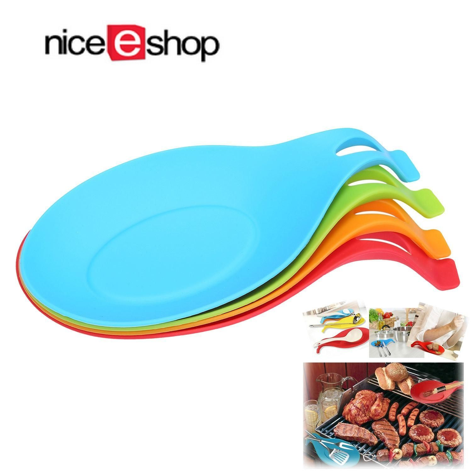 Louis Will Cooking Spoon Holder Kitchen Silicone Spoon Rest Heat ...