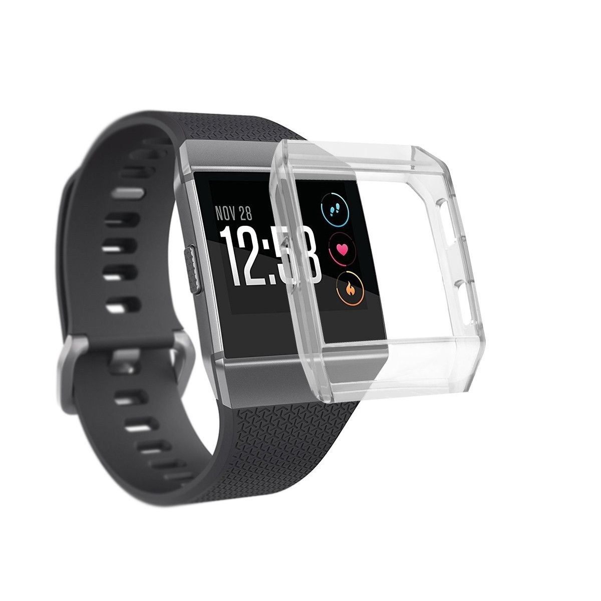 535124e72 Generic husksp Replacement Ultra-Slim Transparent TPU Protect Case Cover  For Fitbit Ionic. 34.40. جنية مصرى