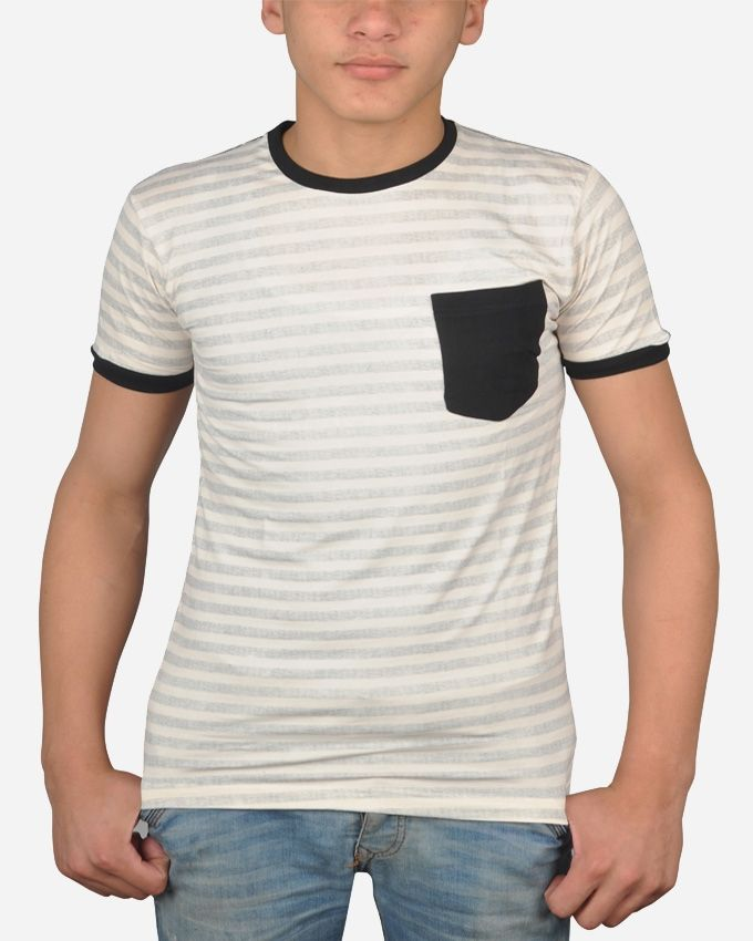 Marley Striped T-Shirt - Off White