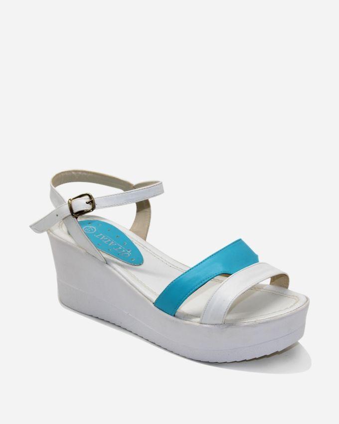 Tata Tio Platform Sandals - White & Blue