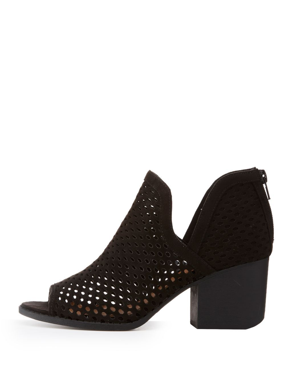 1796baaa08e5 Buy Charlotte Russe Perforated Peep Toe Booties in Egypt