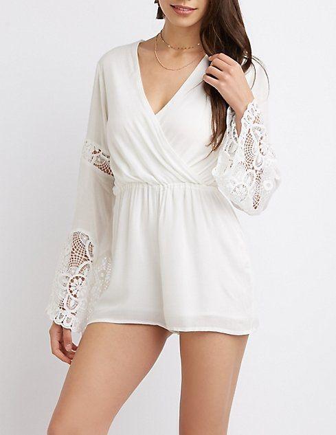 2dea4642f9ff Buy Charlotte Russe Crochet Bell Sleeve Romper in Egypt