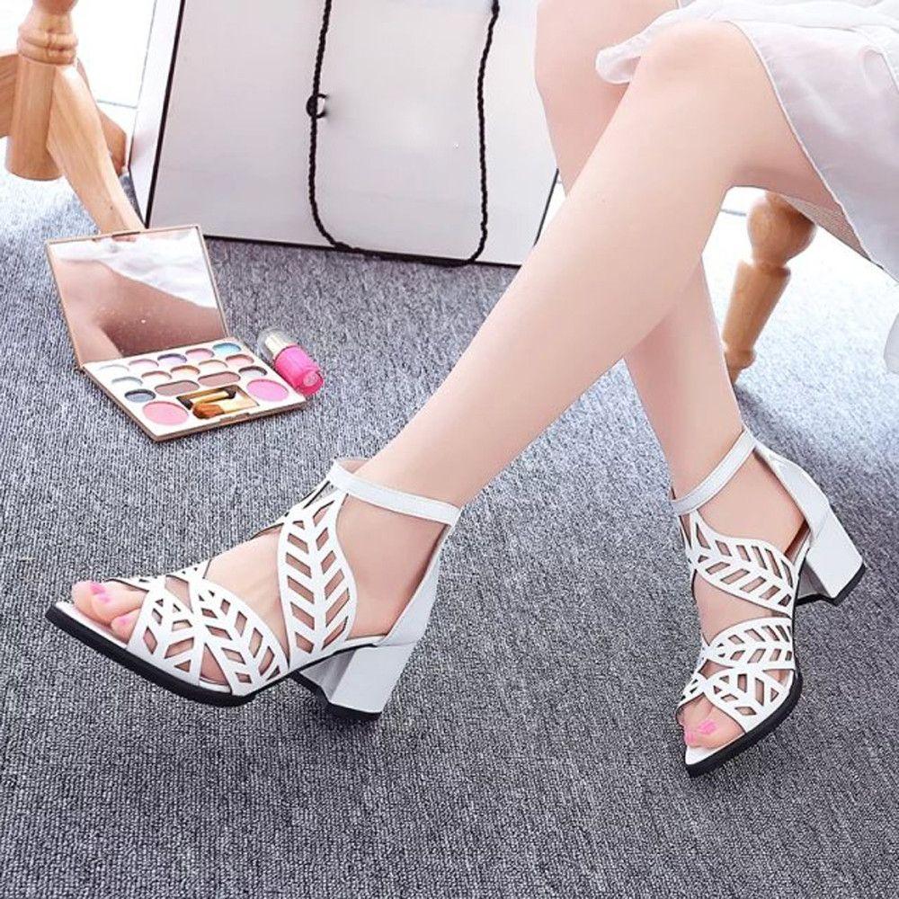 47e319205 Generic Tcetoctre Vintage Summer Women Shoes Sandals Platform Wedge High  Heels Bohemian Shoes - White