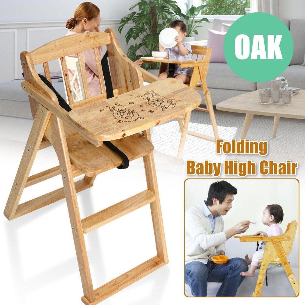 Magnificent Universal Wooden Folding Baby Highchair Fold Away Baby Machost Co Dining Chair Design Ideas Machostcouk