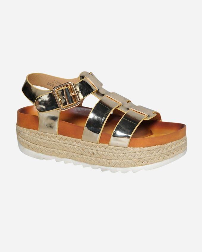 Club Shoes Flat Slipper - Gold