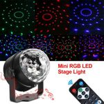 110~240V RGB LED Stage Light Disco Home Party Crystal Magic Ball Effect Lamp HG