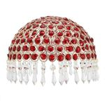 Crystal Table  Bedside TOUCH Table Lamp 3 Position High Low Light Red