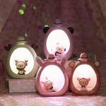Creative Candy Color Table Light Cute Lamb Home Decor Resin Decoration