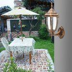 Outdoor Wall Lights Lamp Fixture Garden Porch Patio Aluminum Lantern Decoration # Black