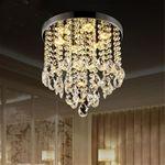 98 Dia Modern Chandelier Crystal Lamp Light Ceiling Mount Fixture Home Decor#Warm White Light
