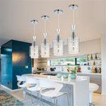 Modern Crystal Iron Ceiling Lights Chandelier Dining Room Pendant Lamp Decor