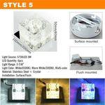 3W LED Aluminum Ceiling Light Fixture White Pendant Lamp Chandelier