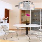 Chrome Chandelier Lamp Light Ceiling Flush Mount Fixture Home Living Room