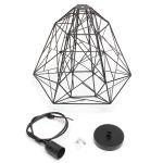 Modern Black Metal Wire Frame Ceiling Light Pendant Shade Large