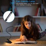 LEDGLE Clip-on Lamp Dimmable Desk Lamps Eye-friendly Reading Light 3 Color Temperature Modes Anti-slip Lamp Base Flexible Hose