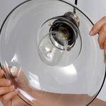 Colahome Vintage Industrial Loft Style Retro Pendant Light Ceiling Lamp 25CM Glass Shade