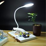 Clip LED Desk Lamp 3 Level Dimming Touch Switch Eye Protection Led Reading Light Home Deco Dimmer Flexible Hose Led Table Lamps