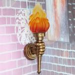 Colahome Modern Vintage Torch Lamp Loft Iron Industrial Rustic Sconce Hanging Wall Light