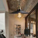 Retro Industrial Iron Vintage Fixture Ceiling Lamp Pendant Loft Cafe Light 26cm