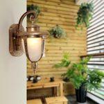 Wall Mount LED Light Lamp Outdoor Garden Exterior Porch Patio Waterproof Lantern#Bronze