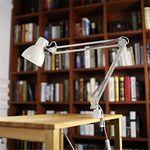 ToJane TG801  Long Swing Arm Desk Lamp Led Table Lamp Office Led Reading Light Home Lampe Bureau Led Desk Lamp Clip(White)