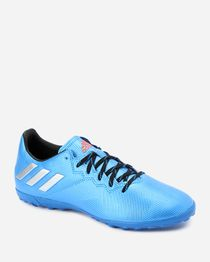 Leather Football Sneakers - Light Blue