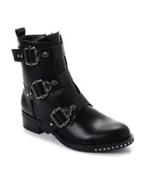 Full Criss-cross Front Lace Knee Length Boots - Black