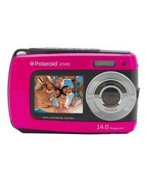 iF045 - كاميرا رقمية مقاومة للماء - 14 ميجا بيكسل - شاشة مزدوجة - وردي