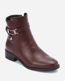 Half Boots - Burgundy
