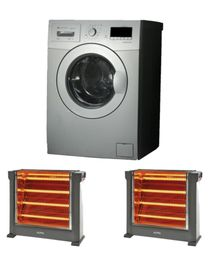 ww-14106s Front Loading Washing Machine - 10.5kg - 6kg Dryer + KH-2760 Ultra Halogen Heater - 4 Tubes - 2200W - 2 Free Pcs