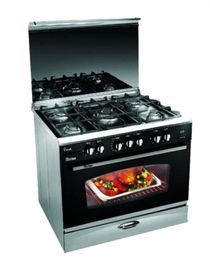 i-Cook Cooker with Fan - 5 Burners - 90*60 cm