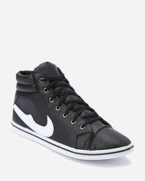 High Neck Sneakers - White & Black