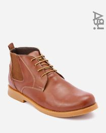 Leather Ankle Boots - Camel