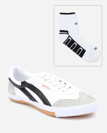Bundle of Casual Sneakers & Socks - White & Black
