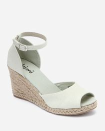 Peep Toe D'Orsay Wedge Sandal - Grey