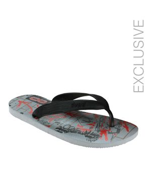 Dupѐ Black and Grey Summer Flip Flop logo