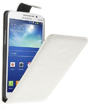 Generic Crazy Horse Vertical Leather Magnetic Case For Samsung Galaxy Grand 2 Duos G7102/G7106 - White