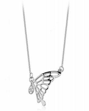 Dinardo Silver 18K Gold Plated Swarovski Necklace logo