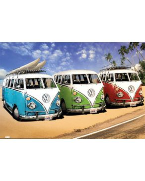 GB Eye VW Camper - Campers Beach Maxi Poster - 61x91.5cm