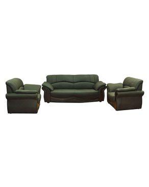 Sunny Metal SO007 Nero Sofa 3 Seats + 2 Chairs