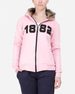 Be Positive Fur Hood Jacket - Pink logo