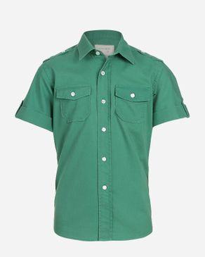 Concrete Cool Shirt-Hunter Green logo