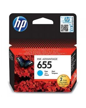 HP 655 Cyan Ink Cartridge CZ110EA