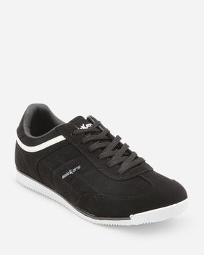 Wickers Men Suede Leather Sneakers - Black logo