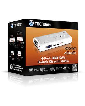 TRENDnet 4-Port USB KVM Switch Kit w/ Audio