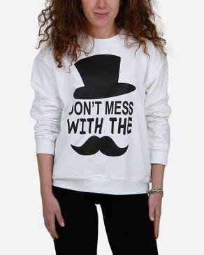 E-Nash Mustache Sweatshirt - White logo