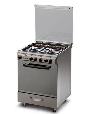 Kiriazi 6600 Stainless Steel Gas Cooker - 4 Burners