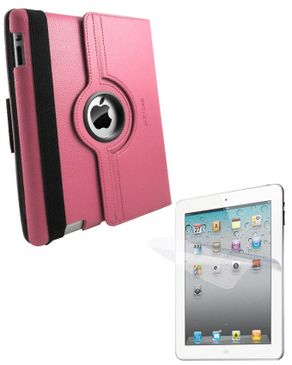 Ztoss CEO 360-II 360 Degree Rotation Folio Case for New iPad SSS291 Pink + ZTOSS i-Crytal Screen Guard Protector SGP209 logo