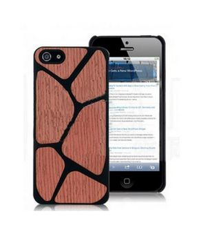 Accesory Agents Wood Blocks Hard Back Cover for iPhone 5 & 5S logo