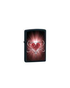 Zippo 28043 Heart On Black Lighter logo